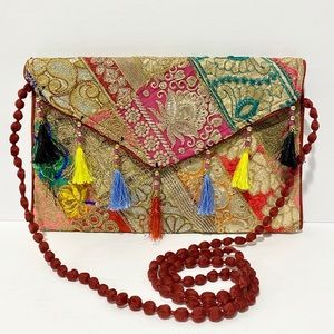 ❤️ Handmade Moroccan Boho Envelope-Style Crossbody